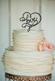 Love Wedding Cake Topper Monogram Cake Topper Custom Cake Topper
