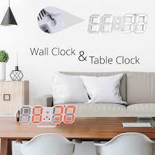 3d led digitale wanduhr datum zeit celsius nachtlicht display tabelle desktop uhren alarm uhr aus wohnzimmer