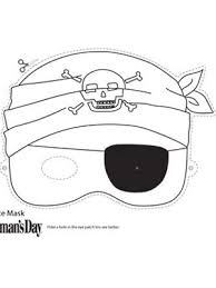 Halloween Crafts Print And Color Pirate Face Mask At WomansDay