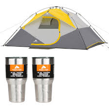 Ozark Trail: 9'x7' Instant Dome Tent + 2-Pack 30oz Tumblers ... Tents 179010 Ozark Trail 10person Family Cabin Tent With Screen Weathbuster 9person Dome Walmartcom Instant 10 X 9 Camping Sleeps 6 4 Person Walmart Canada Climbing Adventure 1 Truck Tent Truck Bed Accsories Best Amazoncom Tahoe Gear 16person 3season Orange 4person Vestibule And Full Coverage Fly Ridgeway By Kelty Skyliner 14person Bring The Whole Clan Tents With Screen Room Napier Sportz Suv Room Connectent For Canopy Northwest Territory Kmt141008 Quick C Rio Grande 8 Quick