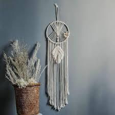 makramee traumfänger wandbehang boho handgemachte traumfänger für schlafzimmer wohnzimmer dekoration