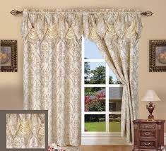 Waterfall Valance Curtain Set by Amazon Com Elegant Comfort Penelopie Jacquard Look Curtain Panel
