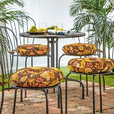 Ebay Patio Furniture Cushions by Amazon Com Greendale Home Fashions 15 In Round Outdoor Bistro