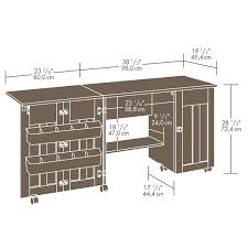 sauder sewing cabinet sauder select sewing craft cart 411615 sauder