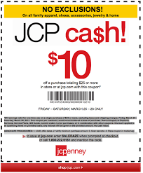 JCPenney $10 Off $25 Printable Coupon (Valid Today ...