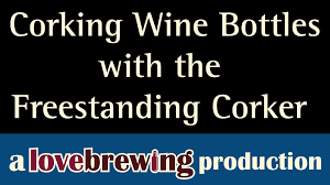 Portuguese Floor Corker Champagne by Corking Wine Bottles With The Freestanding Corker Youtube