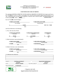 Mexican Birth Certificate Template Translation Spanish To English Thought
