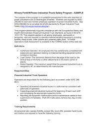 100 Powered Industrial Truck Training Program Topics