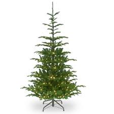 Pre Lit Pencil Christmas Tree Canada by 7 5 Ft Pre Lit Feel Real Hinged Norwegian Spruce Slim Artificial