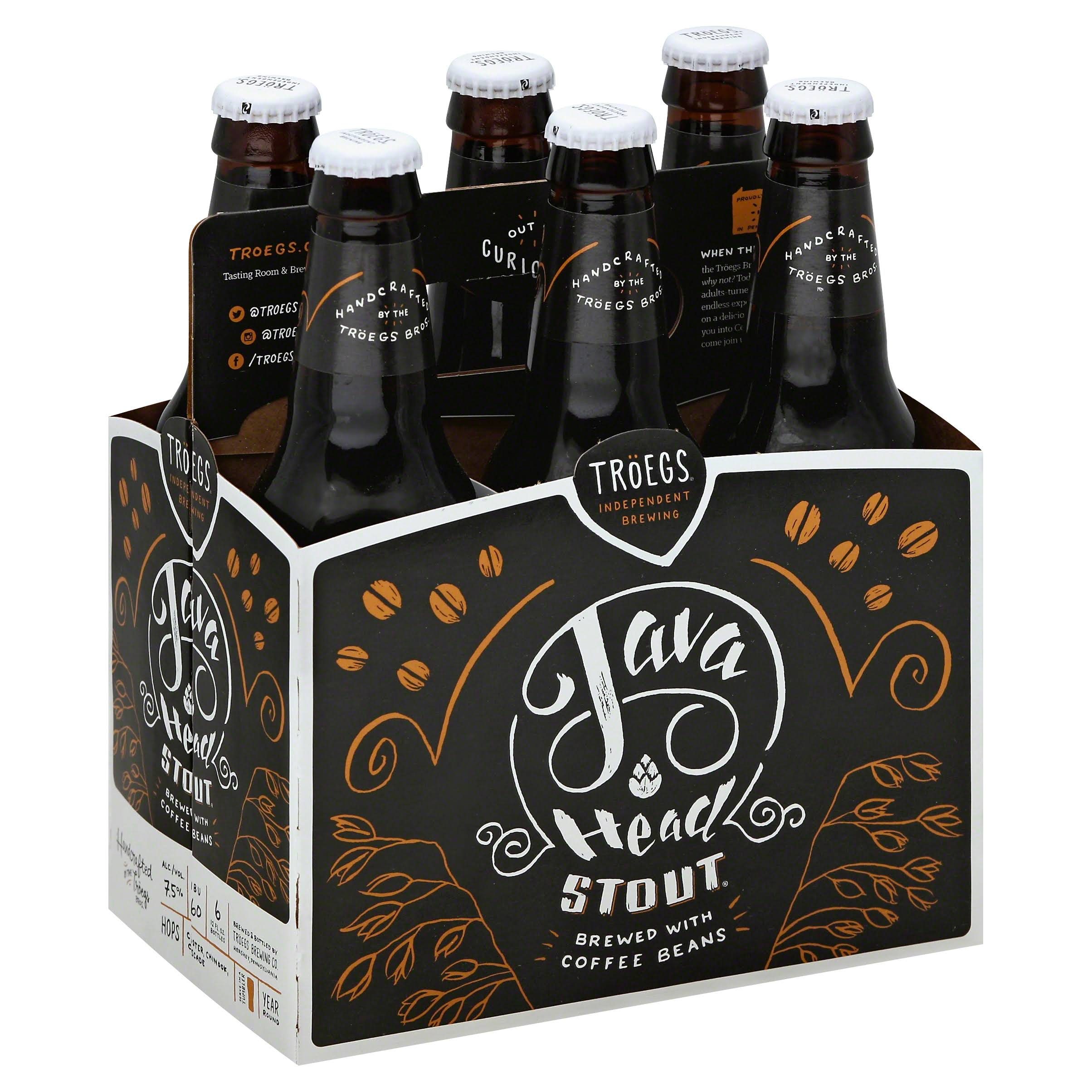 Troegs Beer, Stout, Java Head - 6 pack, 12 fl oz bottles