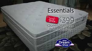 Jeromes Bedroom Sets by Jerome U0027s 399 Essentials Queen Size Mattress Set Youtube