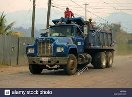 Truck With People On Top In The Suburb Of Matagalpa, Nicaragua Stock ...