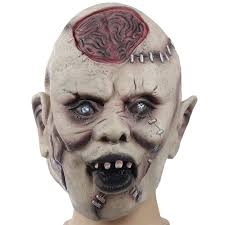 Halloween Scary Pranks 2015 by Devils Monster Latex Scary Mask Halloween Buck Teeth Ghost Mascara