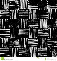 Wicker Texture Rustic Stamp Style Seamless Vector Pattern Black And White