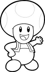 Coloriage Toad à Imprimer