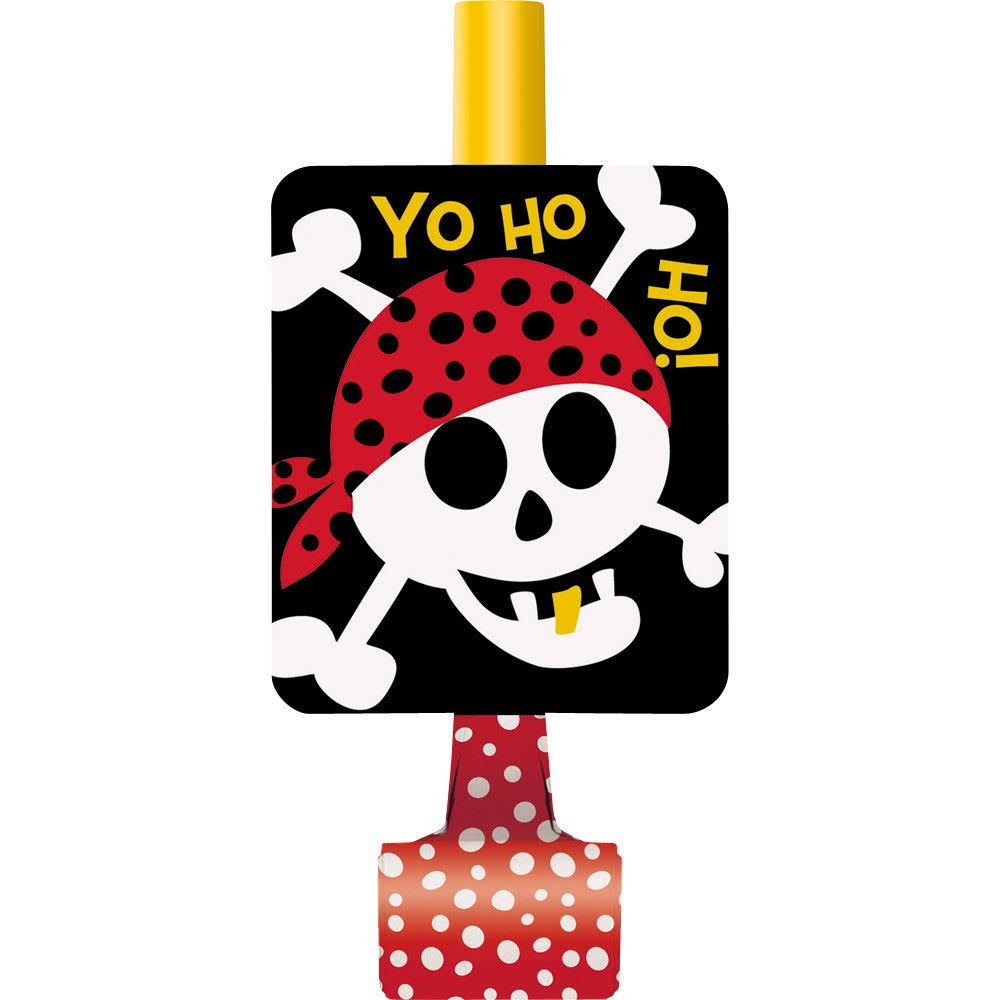 Pirate Party Blowers 8ct