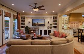 Traditional Family Room Decorating Ideas With Fireplace And