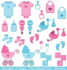 Baby Clip Art Clipart Boy and Girl Baby Shower Clip Art Clipart