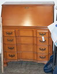Jasper Cabinet Secretary Desk by Vintage Drop Front Maple Desk By Jasper Cabinet Company Four