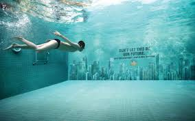 Underwater Swimming Pool Creative Billboard