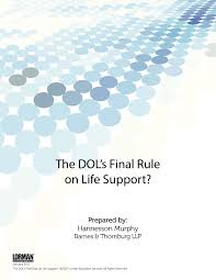 The DOL s Final Rule on Life Support — White Paper