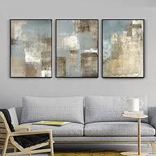 nobrand vintage grau und beige trend abstrakte wandkunst