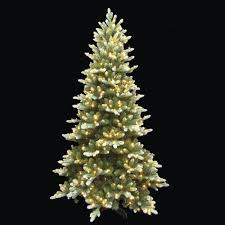 Christmas Tree Stands At Menards by Enchanted Forest 7 5 U0027 Prelit Led Frosted Frasier Artificial