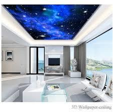 großhandel benutzerdefinierte foto 3d tapeten ktv hotels decke traum wohnzimmer schlafzimmer decke helle sterne wandbild wand papier malerei
