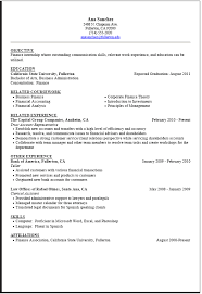 Finance Internship Resume Template