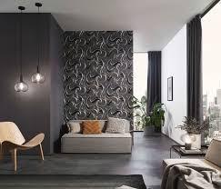 erismann 10105 15 spotlight wandtapete grafisch vlies tapeten schwarz wohnzimmer