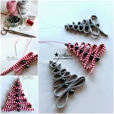 Diy Easy Ribbon Bead Christmas Tree Ornament For Beaded Decorations To Make 2007