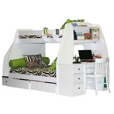 bunk beds twin over full bunk bed with stairs and desk home