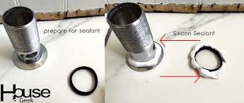 how to seal the sink basin opening leaking bathroom sink