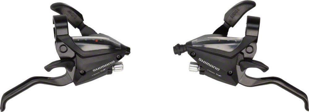 Shimano ST-EF500 3 x 7-Speed Brake/Shift Lever Set Black