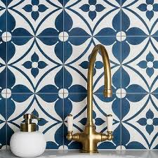 blue mosaic laundry room backsplash tiles design ideas