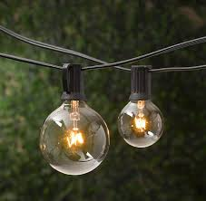 Restoration Hardware large globe indoor outdoor light strings $35