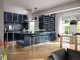 offene küche mit theke weinregal küchen ideen für wohn