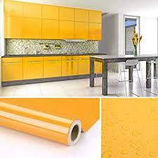 kinlo selbstklebende folie gelb 60x500cm 3 küche aus