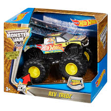 100 Team Hot Wheels Monster Truck Jam Rev Tredz Firestorm Vehicle
