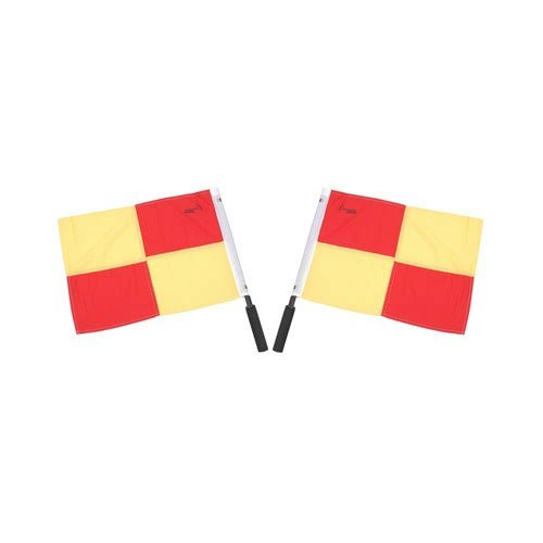 Champion Sports Official Soccer Linesmen Referee Flags Set - 2pk