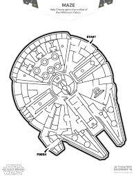 Star Wars Coloring Book Darth Vader Sheet Falcon Maze Rey Printable Pages Princess Leia Full
