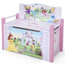 disney princess deluxe toy box bench delta toys