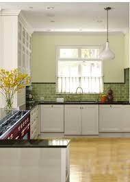 kitchen green glass subway tile kitchen with quartz