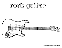 Pop Guitar Musical Instrument Colouring Pages