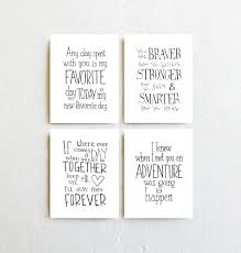 Winnie The Pooh Nursery Decorations by Winnie The Pooh Quote Prints Set Of 4 Inspirational