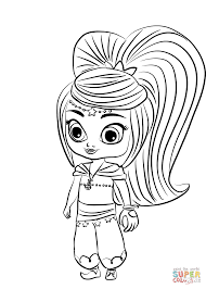 Printable Shimmer And Shine Cartoon Coloring Books For Kids