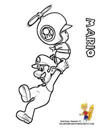 Daring Mario Coloring Pages