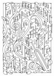 Music Coloring Pages For Adults Printable