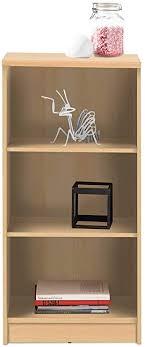 wohnzimmerregal standregal bücherregal 3 fächer dekor buche bxhxt 54x111x34 cm