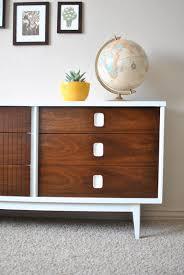 Johnson Carper Mid Century Dresser by Mid Century Veneer Dresser Credenza Makeover House Yard